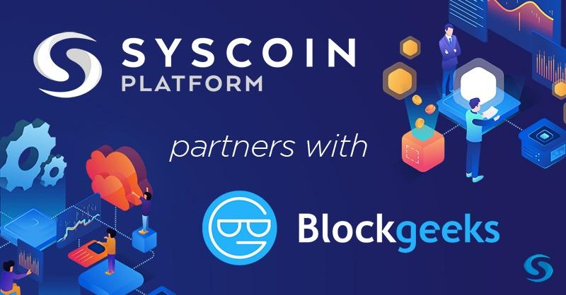 Syscoin rozpoczął współpracę z Blockgeeks