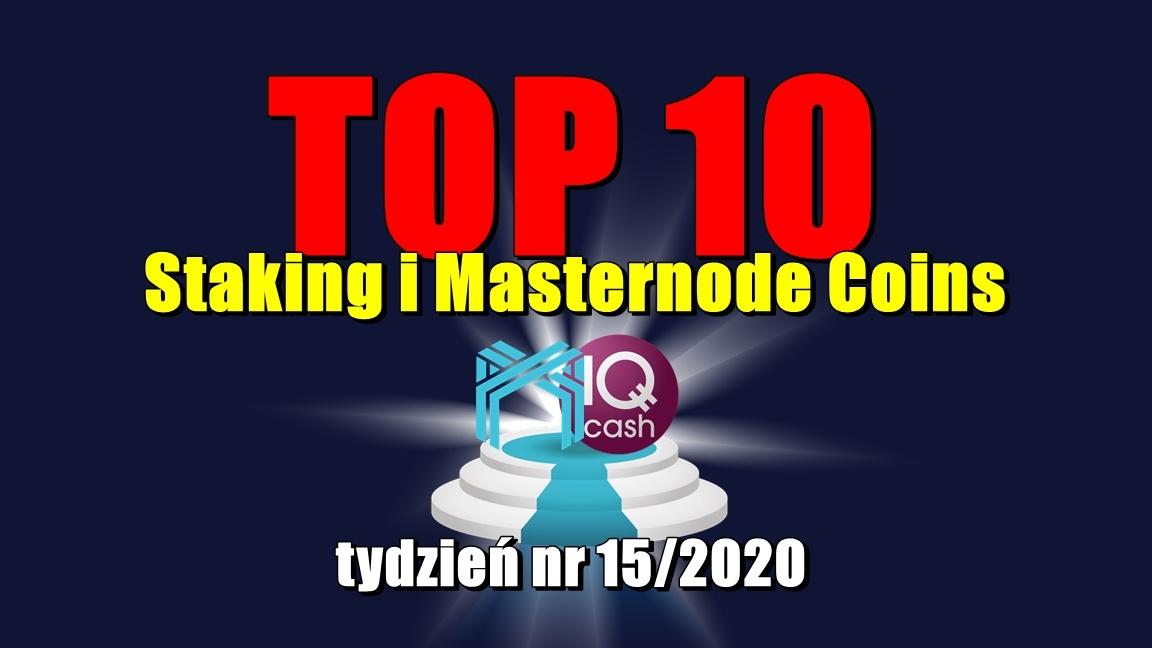 Top 10 Staking i Masternode Coins – tydzień 15/2020