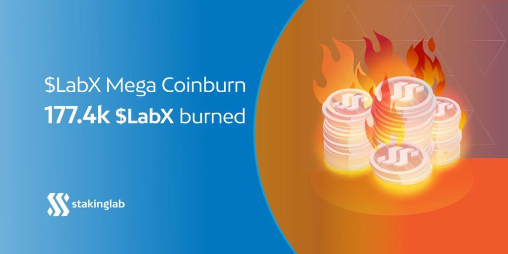 Właśnie doszło do największego wypalenia monety LABX w sumie 177,4 tys