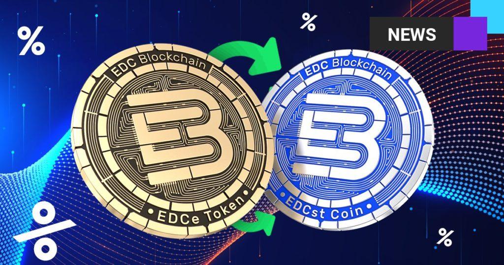 Wymień swój token na monetę - zdobądź 5% bonusu EDC Blockchain