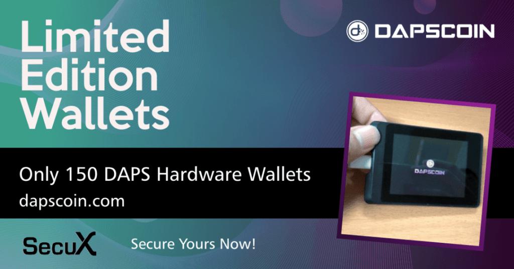 Zamówienia w przedsprzedaży dostępne 150 limitowanych portfeli sprzętowych DAPS firmy SecuX