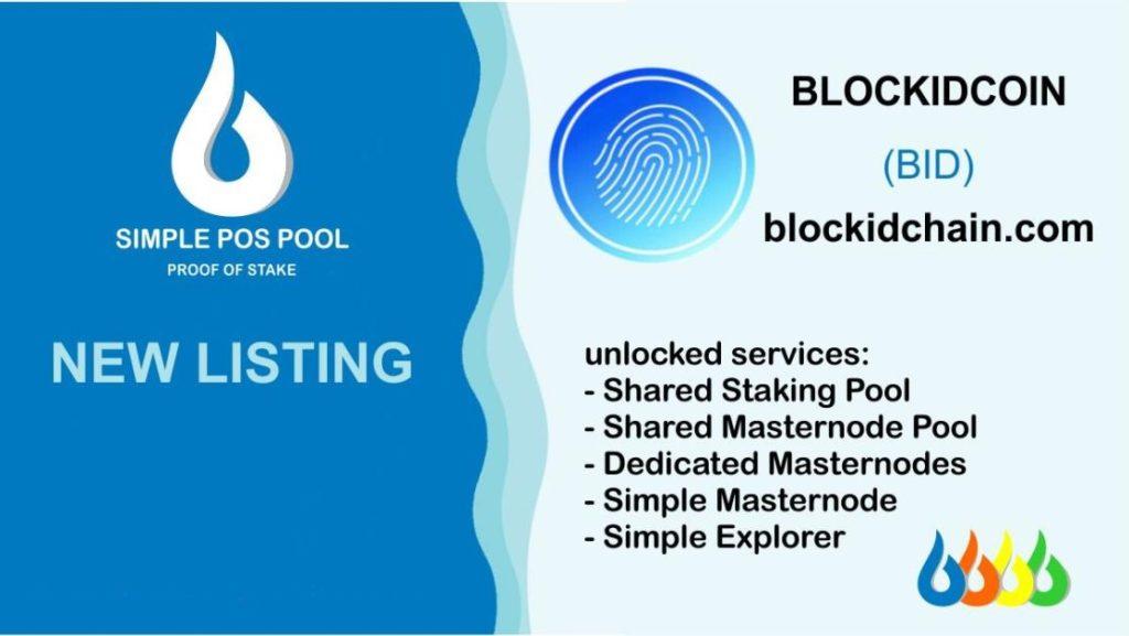 BlockIdCoin wystartował na Simple Pos Pool