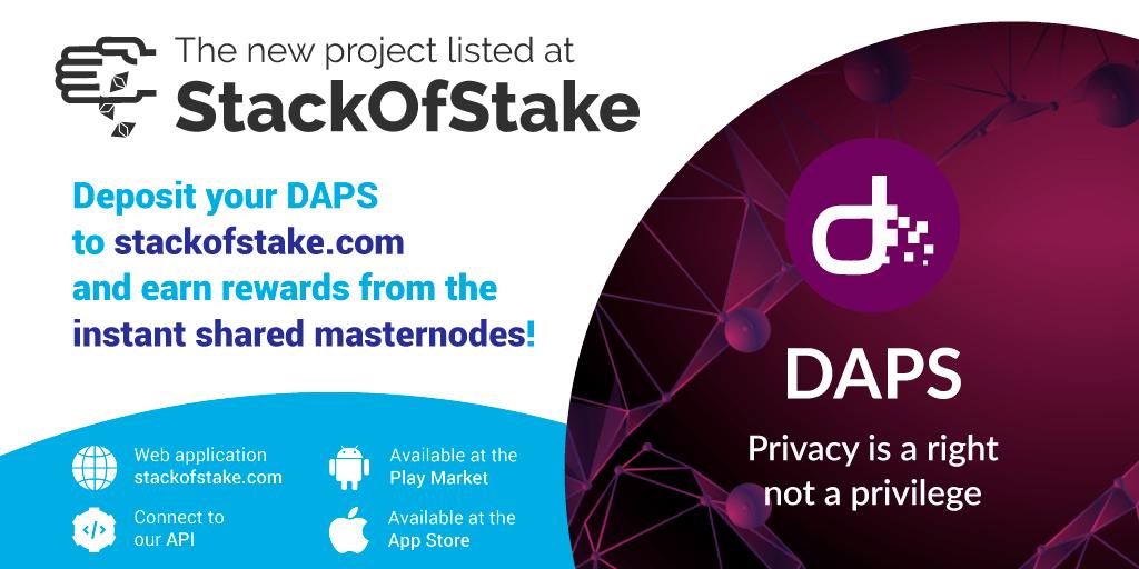 Chcielibyśmy poinformować, że Moneta DAPS (DAPS) na StackOfStake