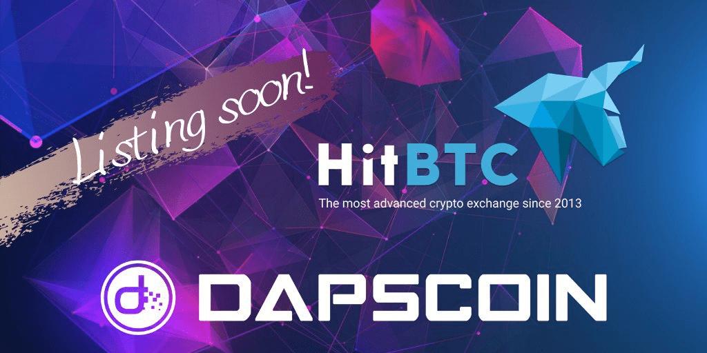 Ogłaszamy, że wkrótce DAPS pojawi się na jednej z najstarszych i najlepszych giełd HitBTC