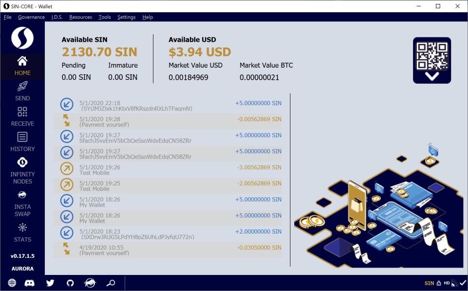 SINOVATE Sneak Peek o nadchodzącym portfelu internetowym AURORA