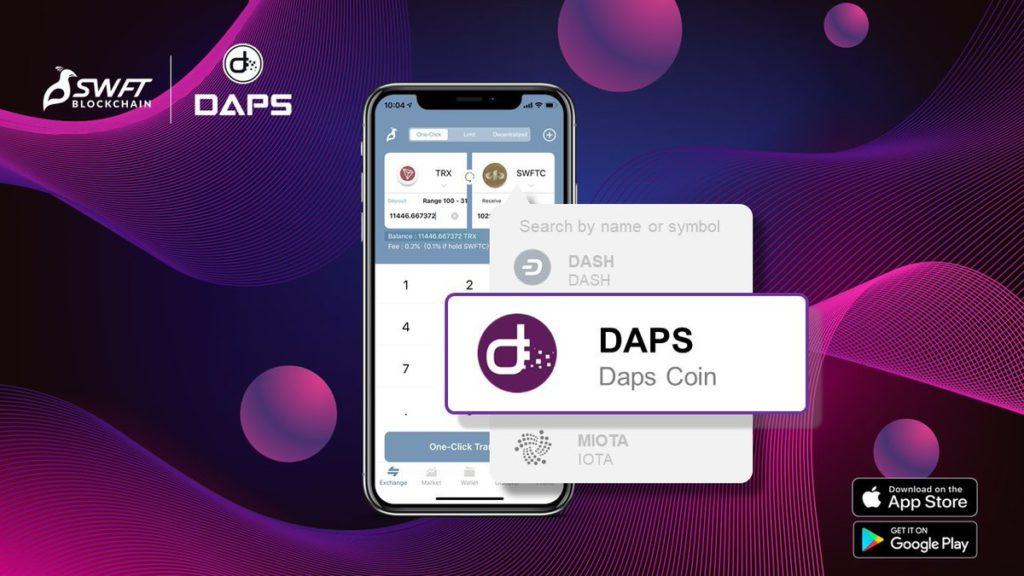 Depozyty DAPS do Twojego portfela SWFT są teraz szybsze