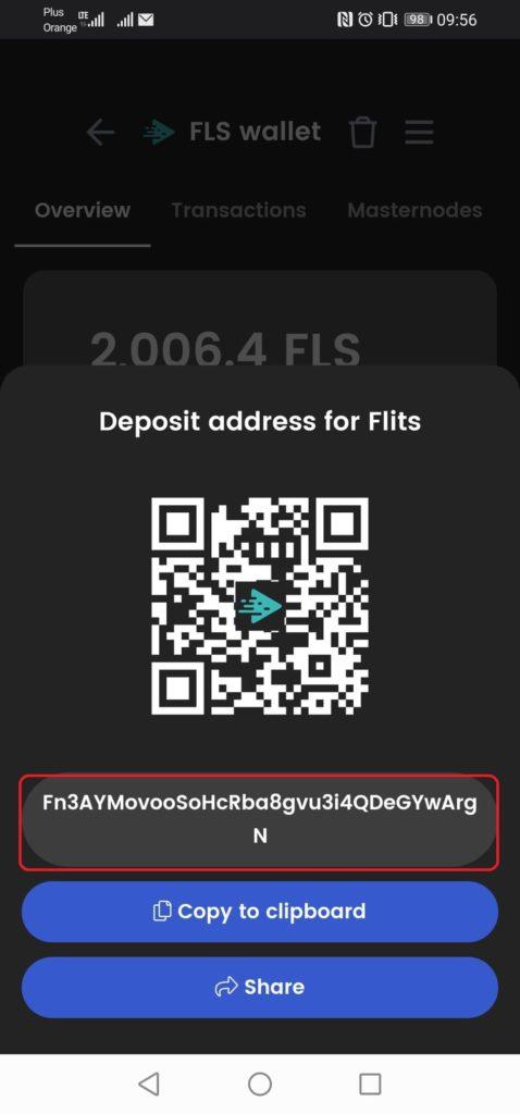 Flits portfel generowanie adresu 3