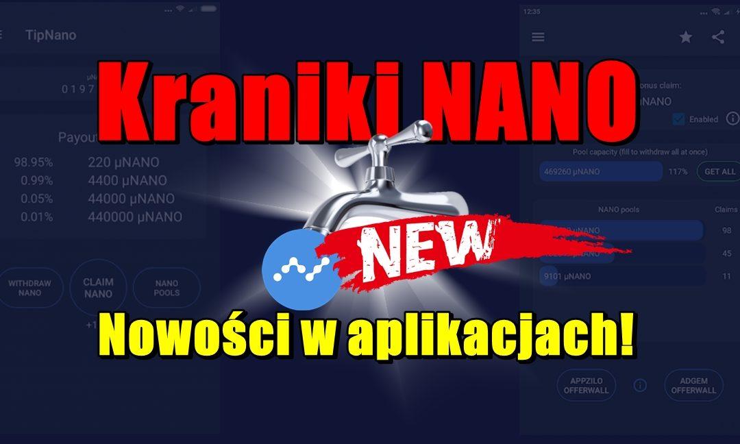 Kraniki NANO - Nowości w aplikacjach!