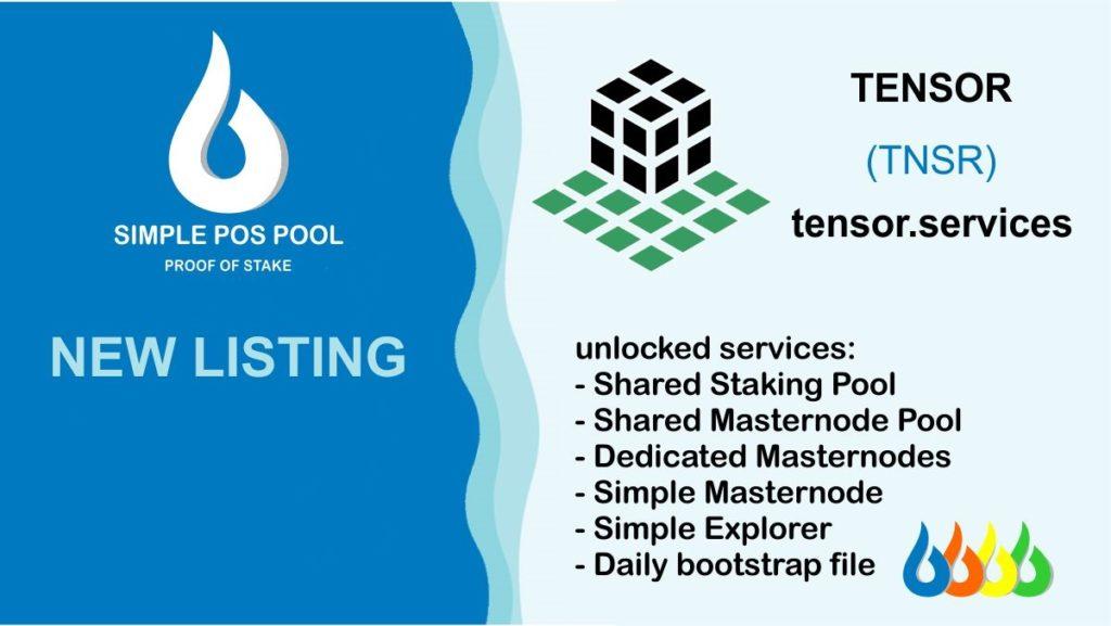 Moneta Tensor została dodana do Simple Pos Pool