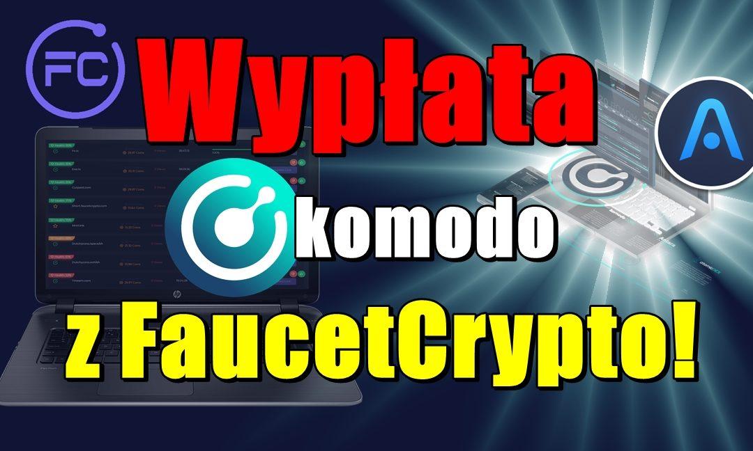 Wypłata KOMODO z FaucetCrypto!