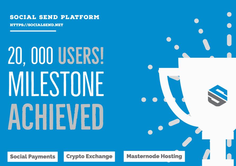 Z dumą ogłaszamy, że osiągnęliśmy kamień milowy 20 000 użytkowników platformy Social SEND przez 3 lata ciężkiej pracy