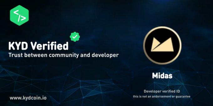 CEO MIDAS (MIDAS) rozszerzył swoją weryfikację KYD