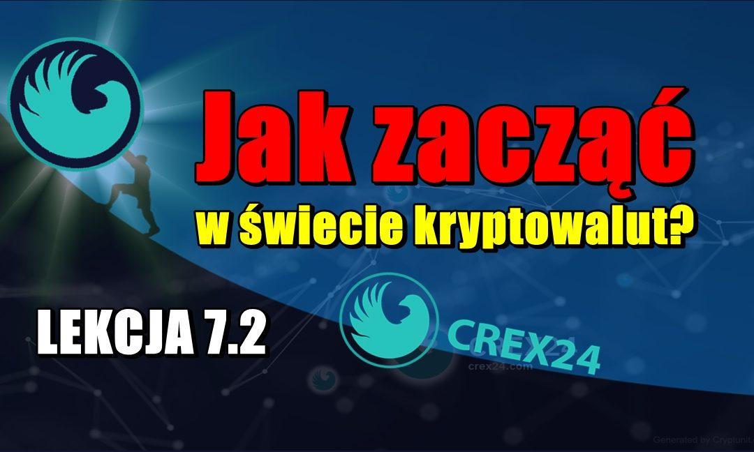 Jak zacząć w świecie kryptowalut? LEKCJA 7.2. Jak poruszać się po giełdzie Crex24?