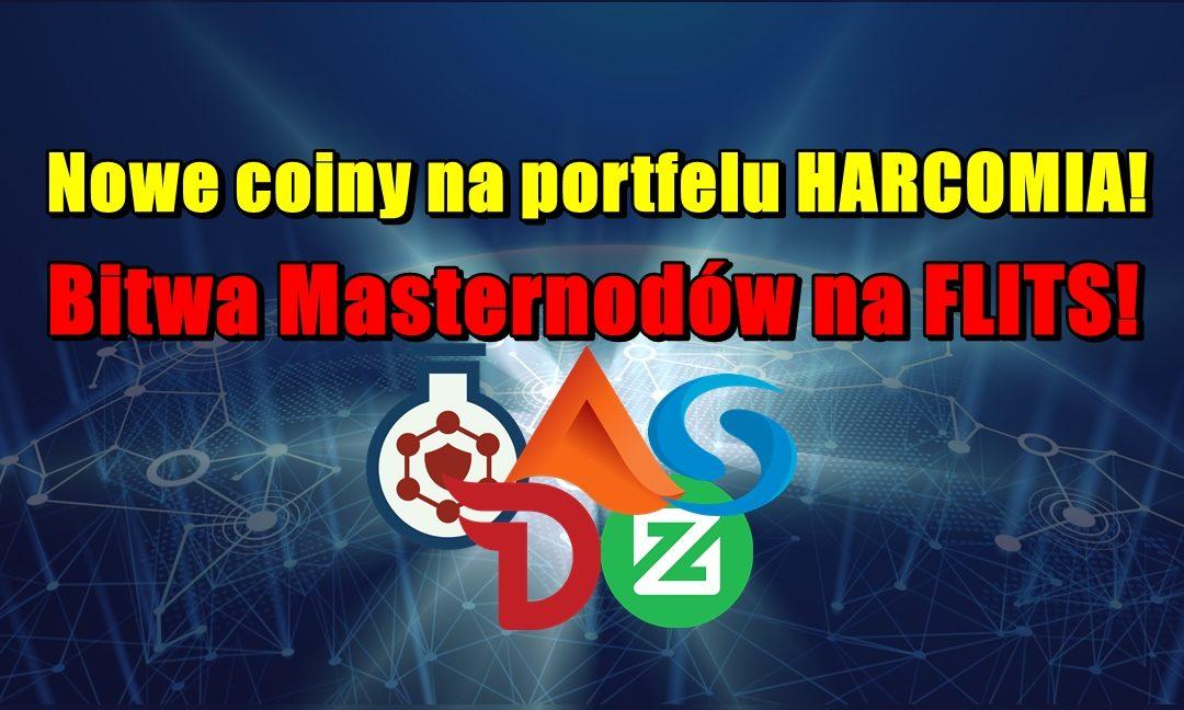 Nowe coiny na portfelu HARCOMIA! Bitwa Masternodów na FLITS