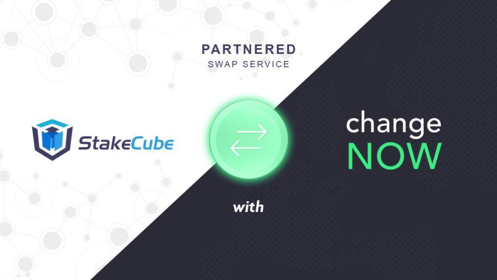 StakeCube Możesz teraz skorzystać z usługi ChangeNOW.io…