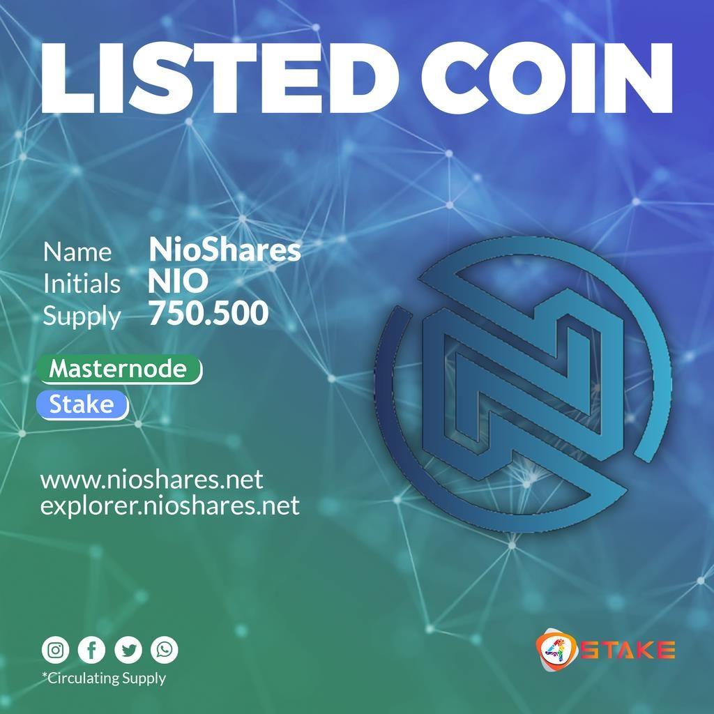 Wspaniała wiadomość, NioShares [NIO] jest już dostępne na 4stake