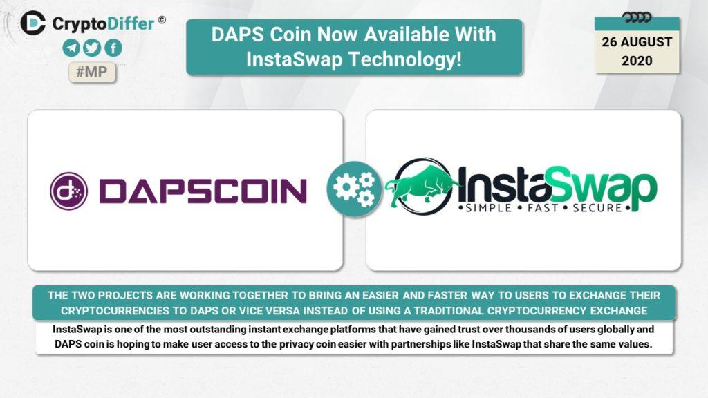 DAPScoin Teraz dostępny z technologią InstaSwap!