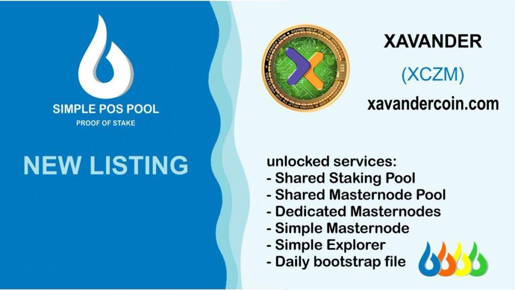 Moneta Xavander została dodana na Simple Pos Pool.