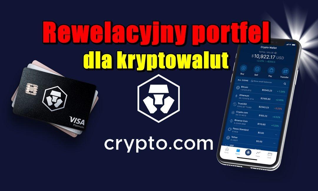 Rewelacyjny portfel dla kryptowalut Crypto.com!