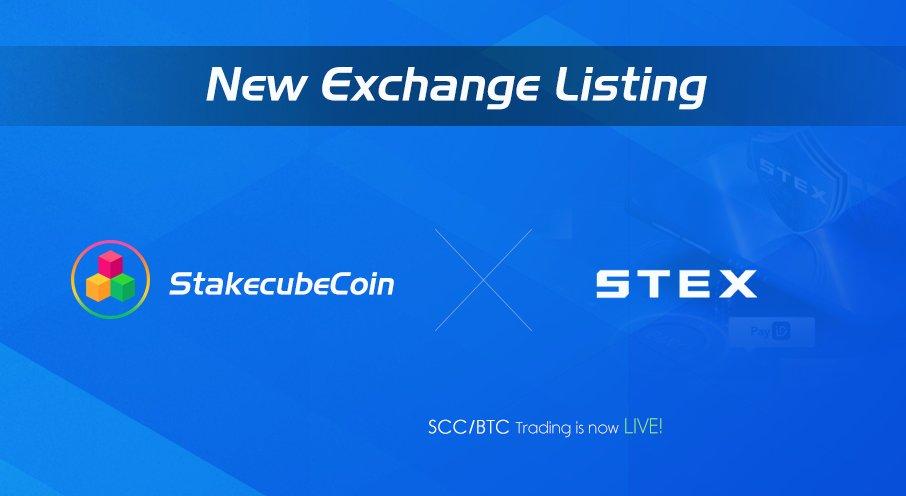StakeCubeCoin $SCC jest już dostępny do handlu na STEX