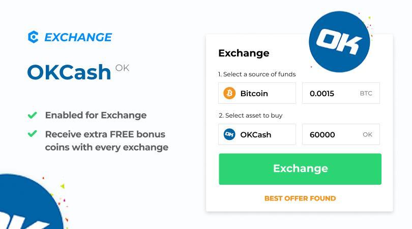 Z przyjemnością informujemy o integracji Okcash Crypto na MyCointainer Exchange