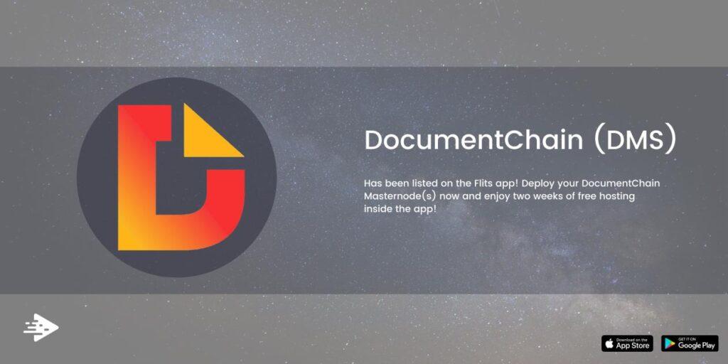 Chcielibyśmy ogłosić, że DocumentChain (DMS) znalazł się na liście Flits