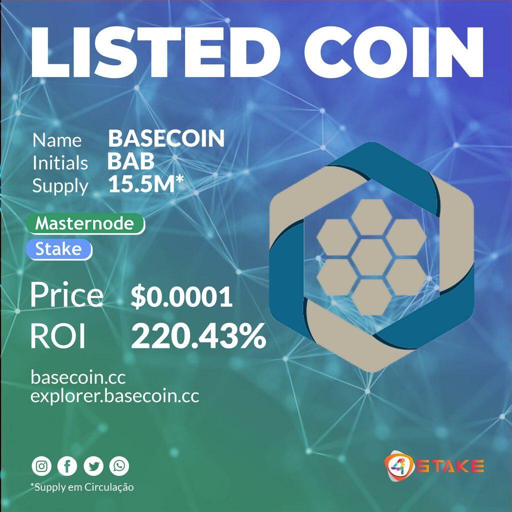 Dobra wiadomość, BASECOIN [BAB] jest już dostępny na 4Stake!