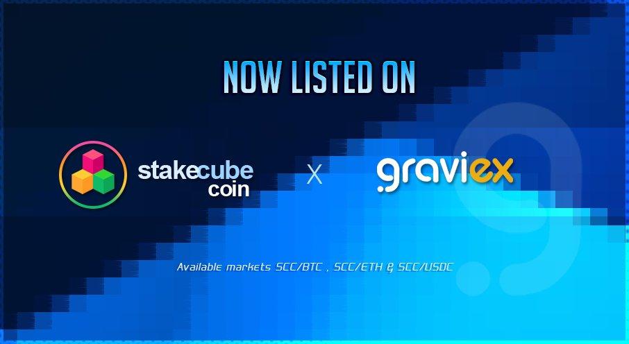 SCC jest teraz notowane na giełdzie Graviex na trzech rynkach