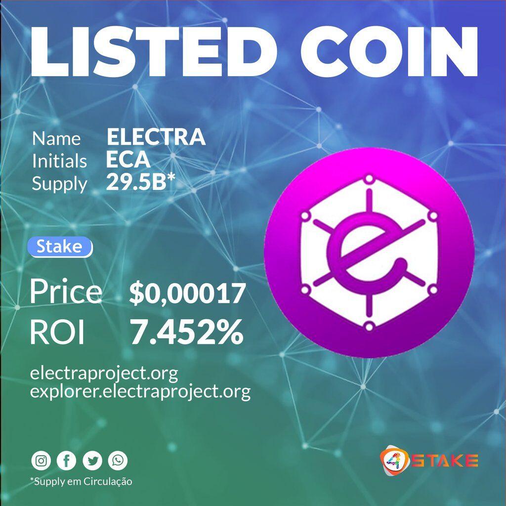 Sprawdź to, Electra [ECA] jest już dostępna na 4Stake