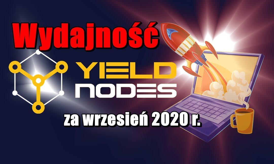 Wydajność YieldNodes za wrzesień 2020 r.