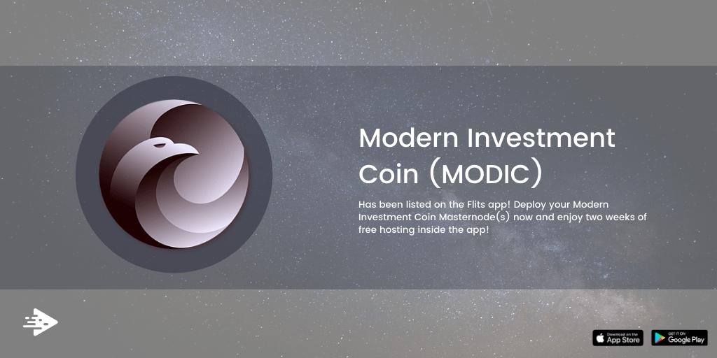 Z przyjemnością informujemy, że Modern Investment Coin (MODIC) znalazł się na liście Flits