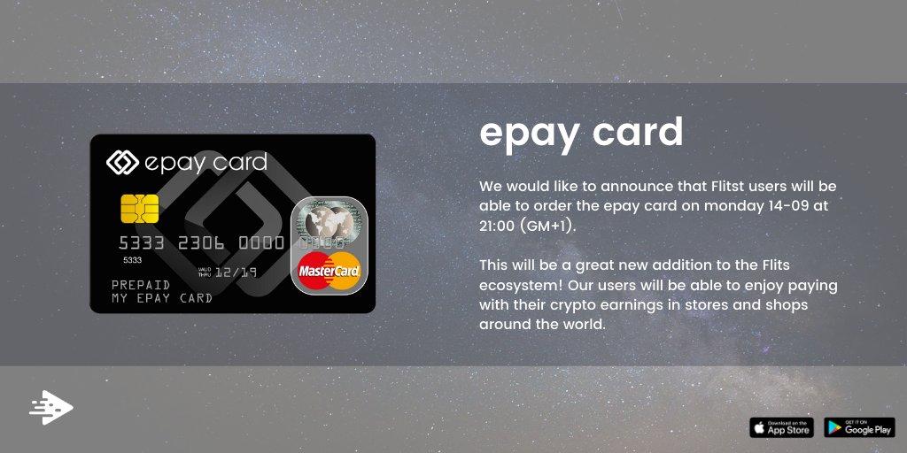 🔹Masz już swoją kartę Epay Możesz zamówić swoje karty Epay w aplikacji Flits