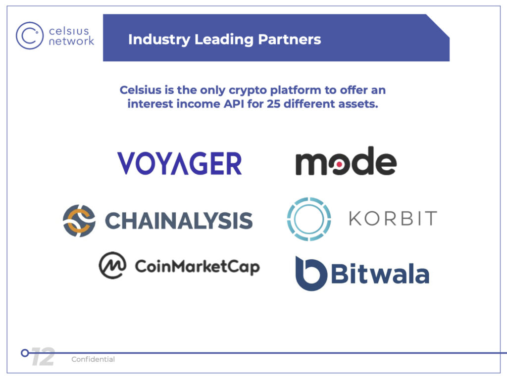 Celsius partnerships