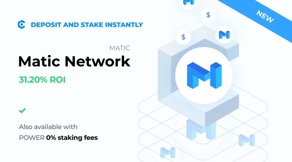Miło nam poinformować, że Matic Network został wymieniony na MyCointainer