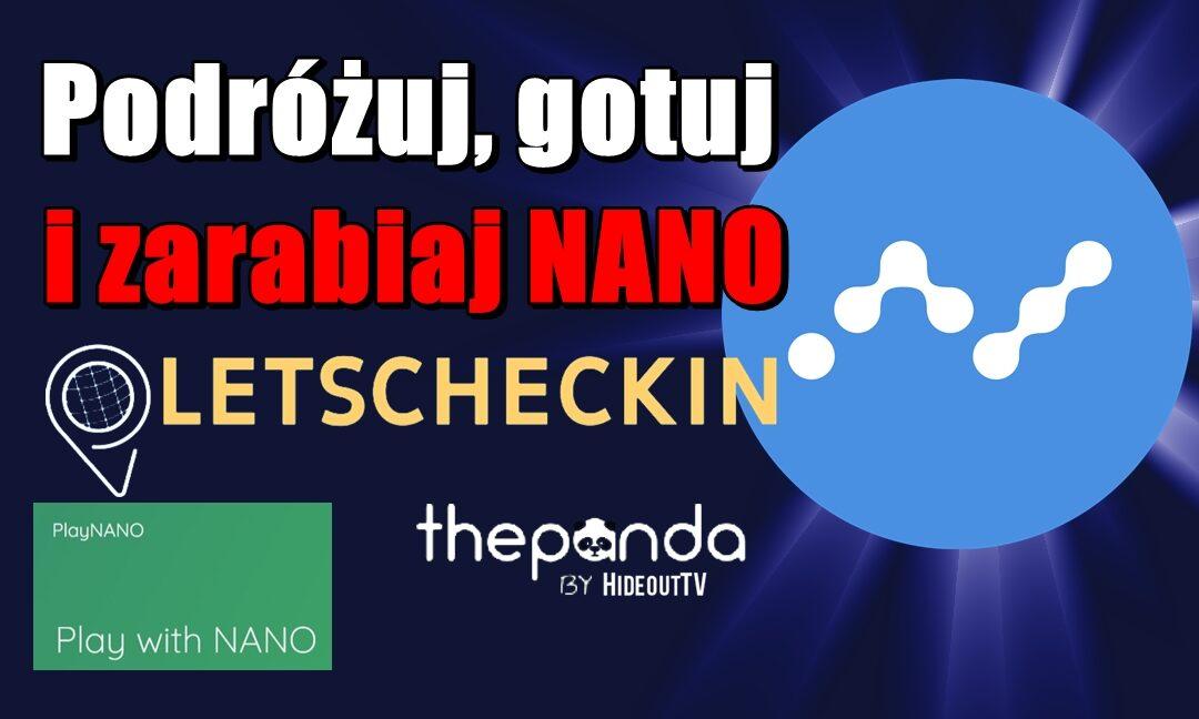 Podróżuj 🛩 gotuj 🍝 i zarabiaj NANO 💲💲💲 > Letscheckin