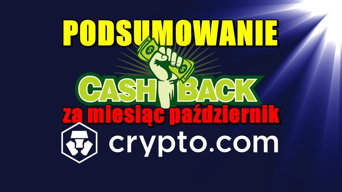 Podsumowanie cashback za miesiąc październik w Crypto.com