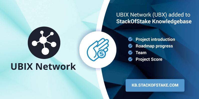 Sieć UBIX będzie dostępna w StackOfStake w tym tygodniu