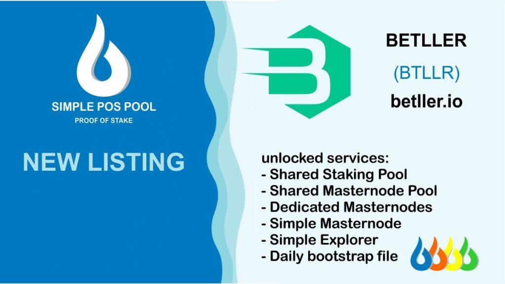 Betller jest notowany na Simple Pos Pool