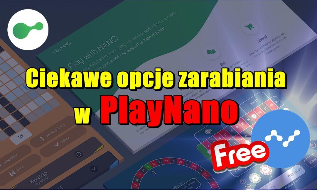 Ciekawe opcje zarabiania w PlayNano