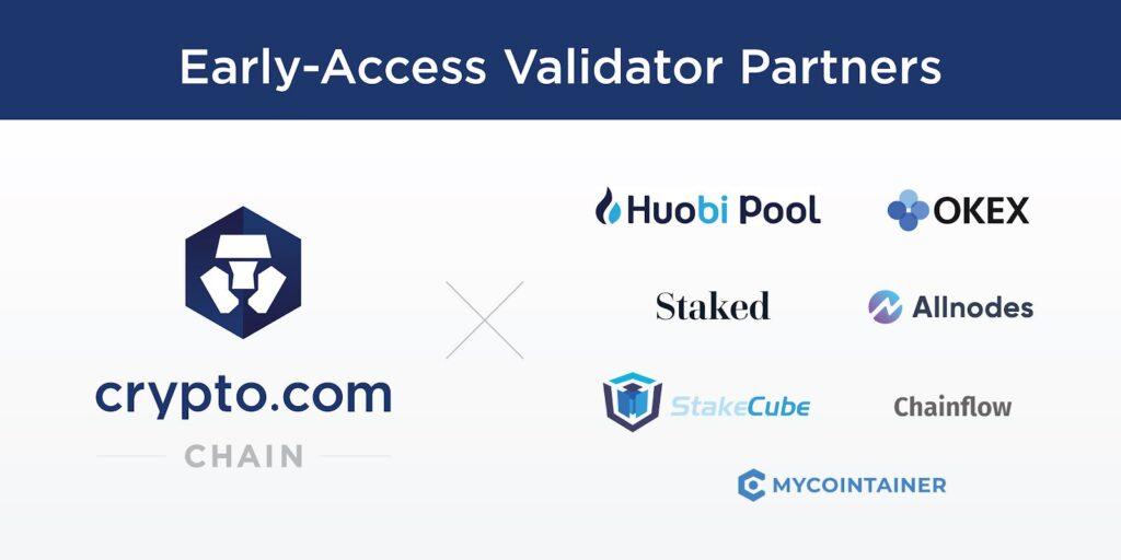 Crypto.com Chain Early Access Validator Partners