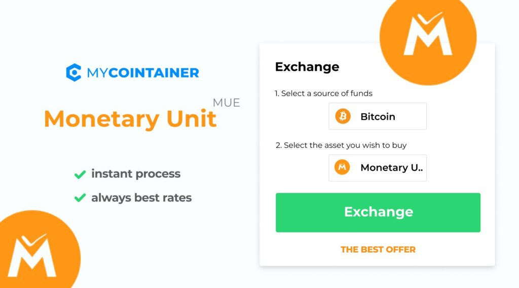 Możesz teraz kupić MUE za pomocą Bitcoin na MyCointainer Exchange