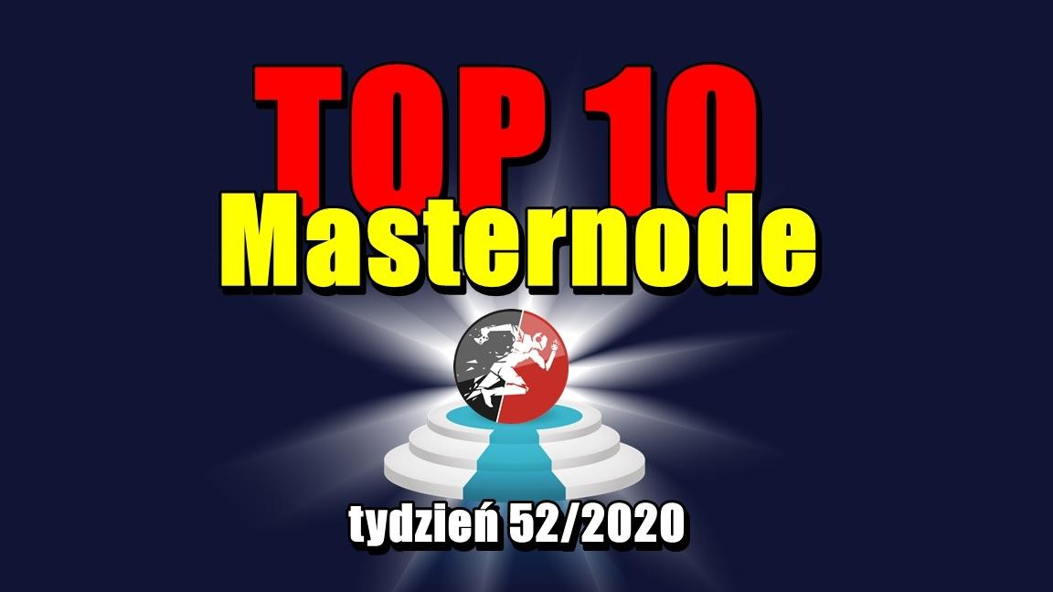 Najlepsze Masternody – tydzień 52/2020