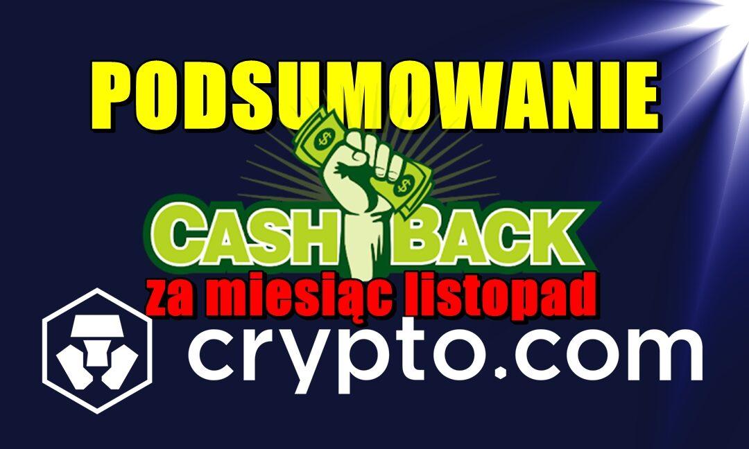 Podsumowanie cashback za miesiąc listopad w Crypto.com