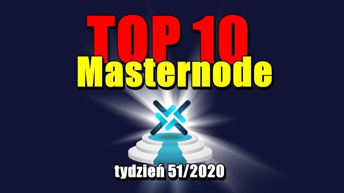TOP 10 Masternode – tydzień 51/2020