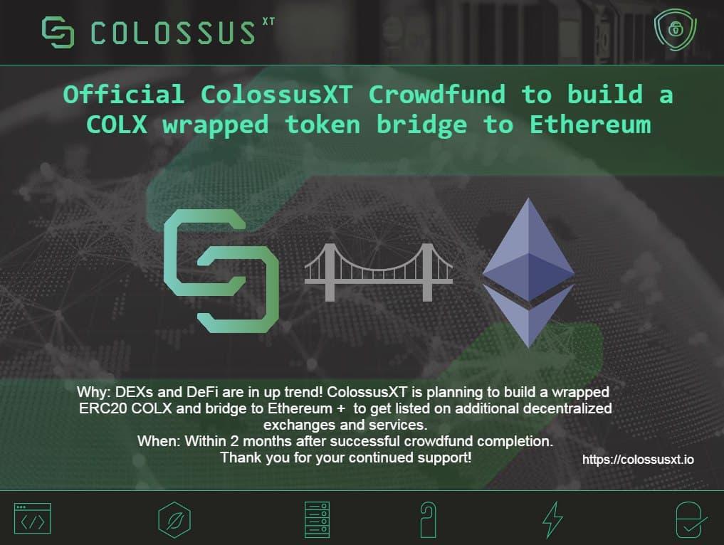 ColossusXT rozpoczyna zbiórkę pieniędzy na Wrapped Token