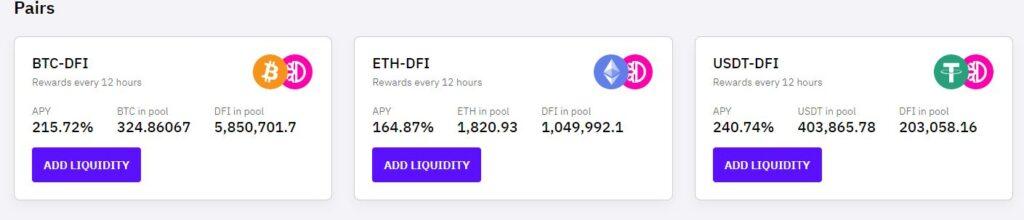 Liquidity Mining cake defi