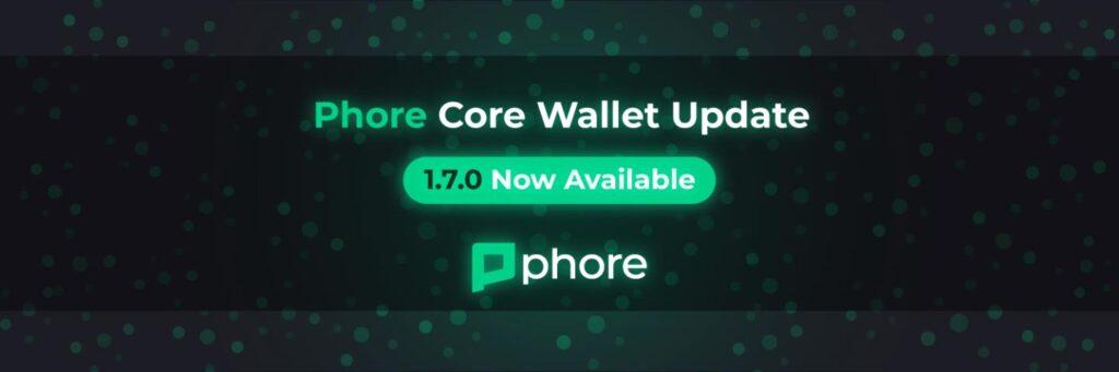 Phore Core Wallet v1.7.0 jest już dostępny