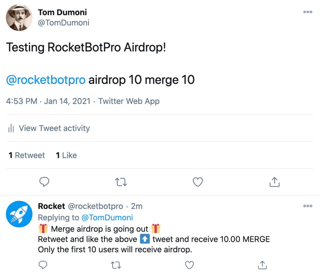 RocketBot Twitter 2
