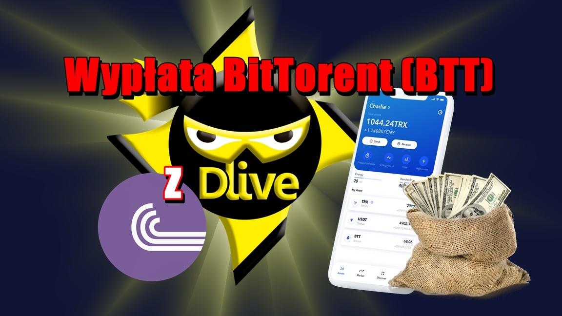 Wypłata BitTorent (BTT) z DLive