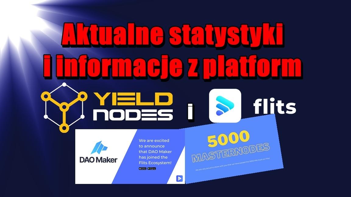 Aktualne statystyki i informacje z platform Flits i Yieldnodes